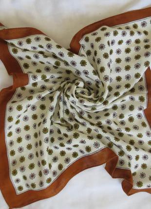 Шейный платочек гаврош косынка декор к сумке бандана хлопок