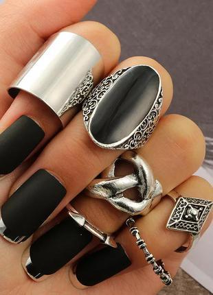 Набор колец винтаж 6 шт стильные кольца