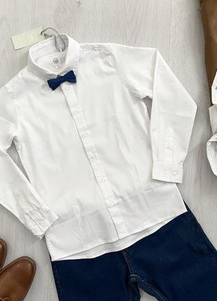 Подростковая рубашка с галстуком бабочкой для мальчика cool club польша