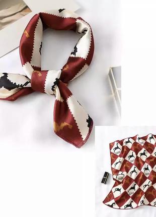 Платок на шею, шарф на голову, платок на сумку