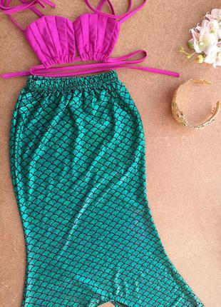 Карнавальный костюм русалочка ариель на 6-8 лет принцесса дисней