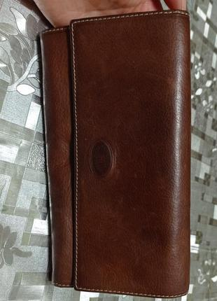 Cuoieria fiorentina гаманець шкіряний, коричневий.