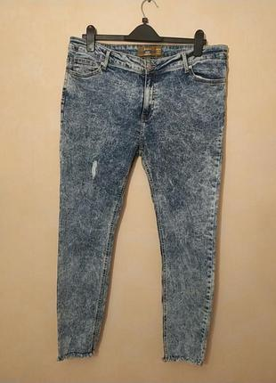 52-54!батал большой размер шикарные рваные зауженные джинсы скинни  скінні рвані джинси