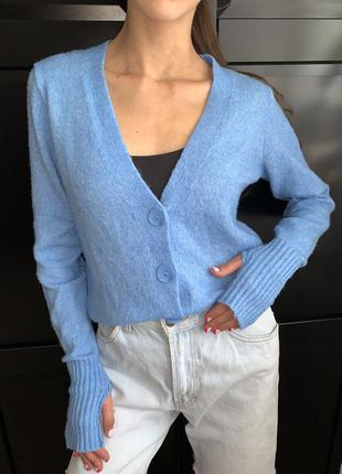 Синій светр на ґудзиках/ джемпер /свитер/ кардиган розмір s