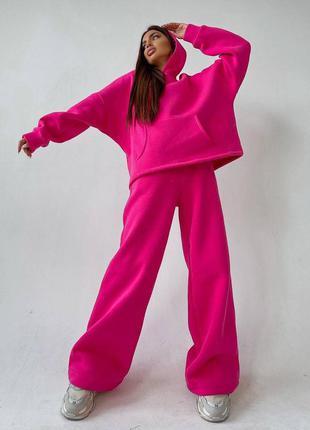 Розовый костюм на флисе