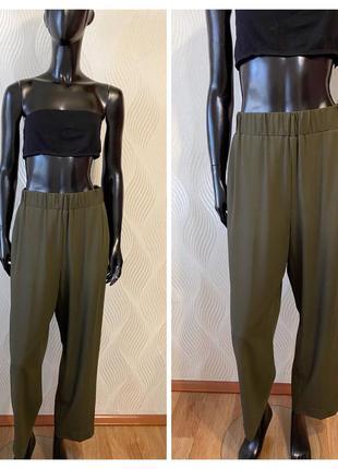 Шерстяные зауженные брюки cos цвета хаки