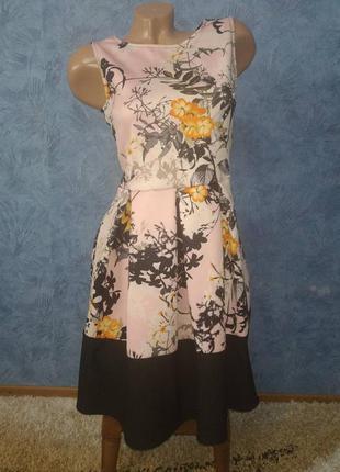 Шикарное платье миди с пышной юбкой