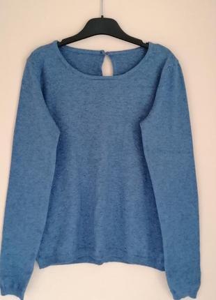 Модный свитер с пупырышками декорирован пуговицами джемпер полувер