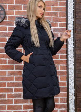 Ефектна красива зручна довга куртка з капішоном