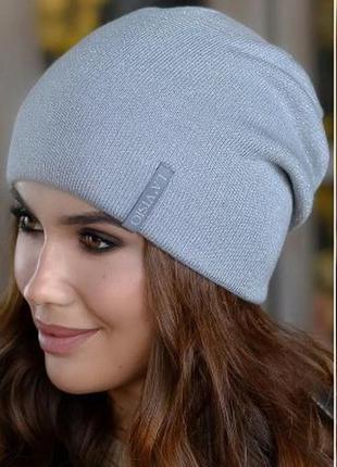 Двухсторонние женские, стильные шапки новинки осень-зима 2021