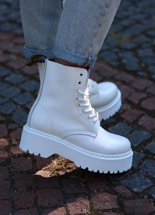 Ботинки  dr. martens jadon total white черевики