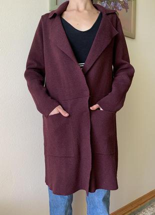 Светир кардиган свитер подовжений вязаний s-m джемпер