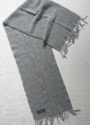 Базовый шерстяной шарф в сером цвете lambswool