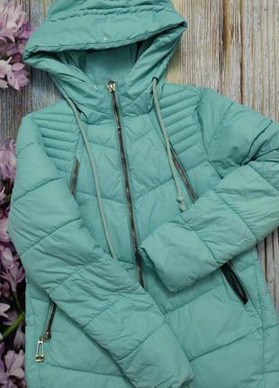 Зимняя теплая куртка бирюзовая