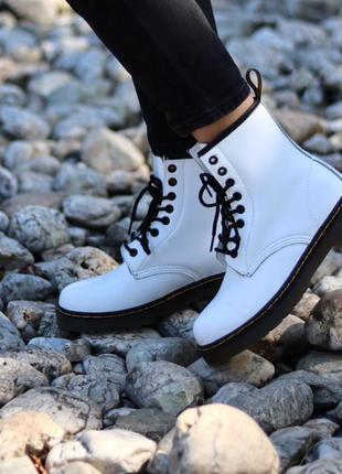 Ботинки dr. martens 1460 white черевики