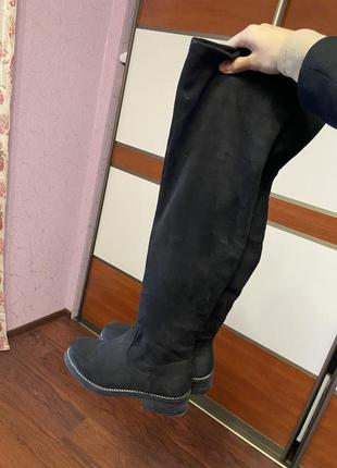 Чорні ботфорди чоботи ботинки