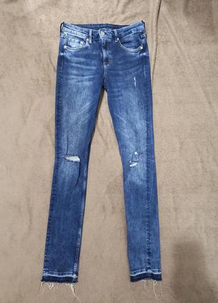 Крутые джинсы скинни узкачи суперстрейч на высокой посадке
