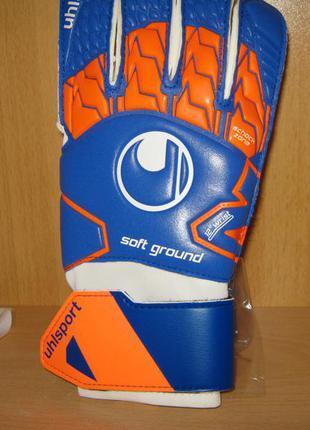 Вратарские перчатки uhlsport soft rf размер 8 новые germany