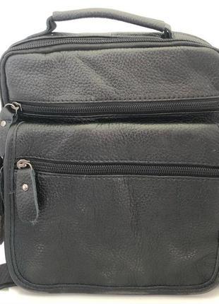 Кожаная сумка среднего размера