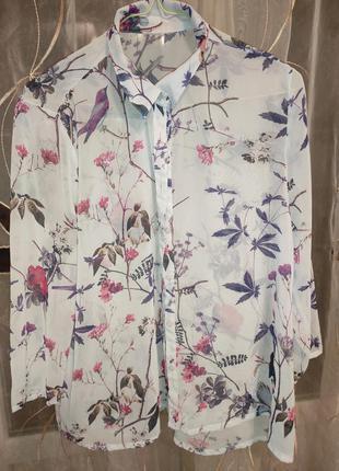 Блуза/рубашка с цветочным принтом