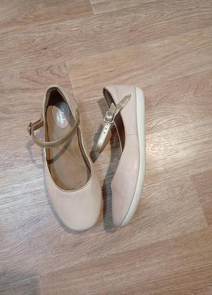 Clarks 25 см мокасины туфли балетки кожа