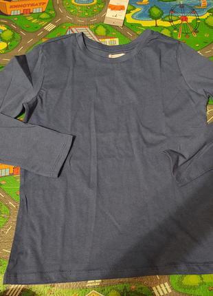 Лонгслив хлопковый, реглан в школу, футболка с длинным рукавом