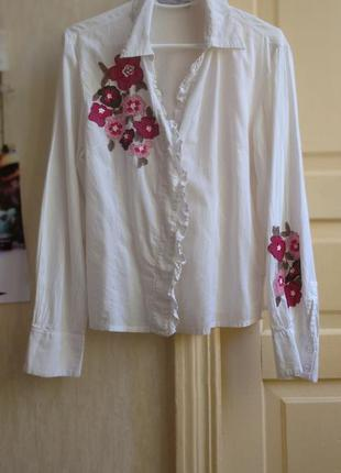 Вышиванка блуза с вышивкой вишиванка сорочка жіноча біла