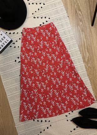 Спідниця міді юбка миди тренд сезона