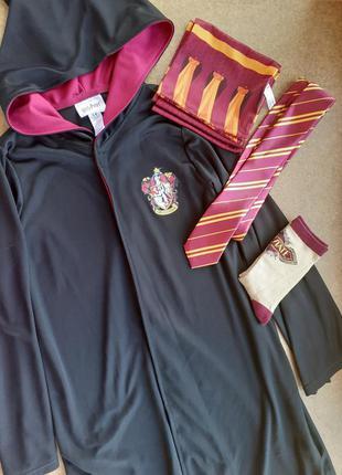 Костюм гарри поттер 9-10 лет, мантия, плащ, накидка гриффиндор галстук шарф