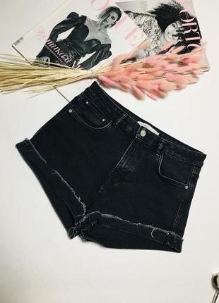Крутые джинсовые шорты с высокой талией из стираного денима от zara trafaluc