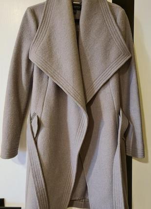 Серое пальто lipsy m size