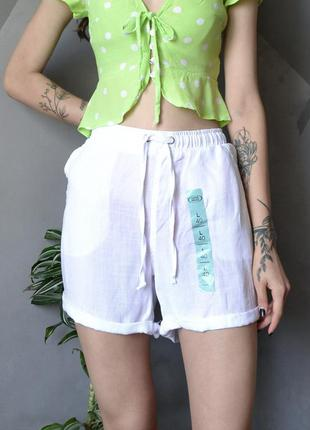 Новые белоснежные шорты chicoree