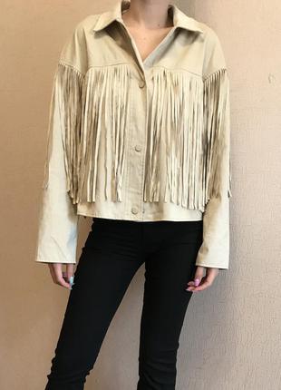 Пиджак жакет куртка с бахромой zara