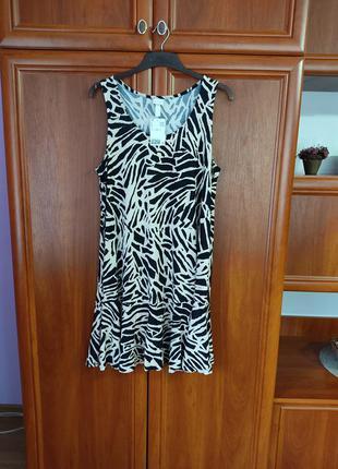Платье летнее с принтом