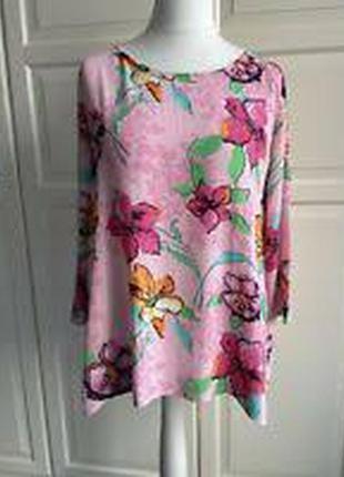 Свободная блузка , 100%вискоза ,цветочный принт