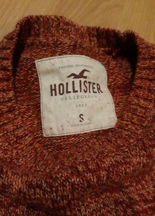 Червоний зимовий светр hollister