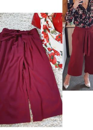 Стильные широкие штаны/кюлоты на резинке +пояс, new look,  p. 14-16