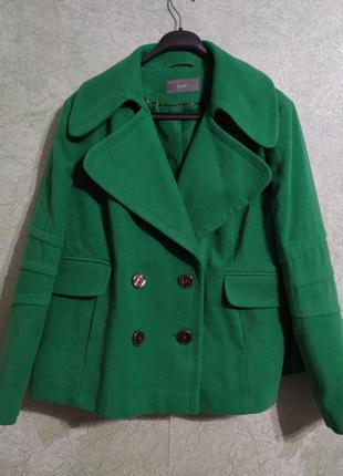 Пальто яркое  кашемировый теплый пиджак батал большой размер south eur 24