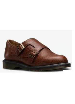 Новые натур. кожаные монки туфли с ремешками