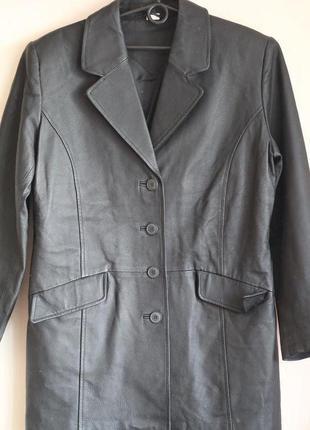 Стильный кожаный пиджак, тренч 48-50