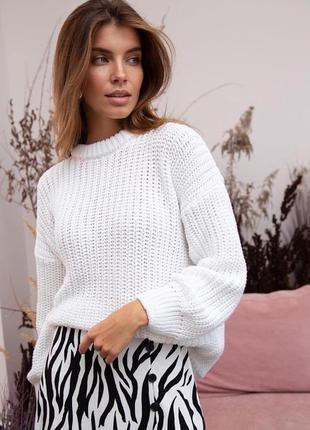 Базовый свитер женский свитер тёплый вязаный