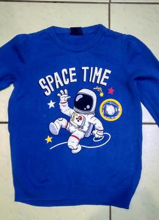 Джемпер реглан свитер светиться звезда 🌟 космонавт