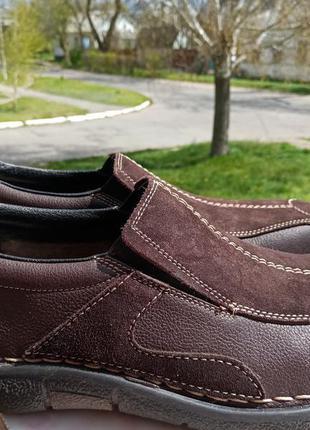 Шикарные туфли rieker 44-45 натуральная кожа
