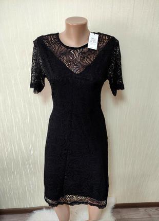 Шикарное женское вечернее кружевное платье с кружевом сукня