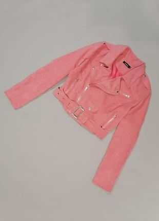 Куртка косуха розового цвета