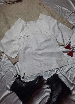 Винтажная натуральная блуза