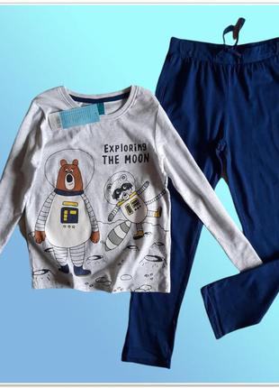 110 116 122 128 детская пижама хлопок pepco