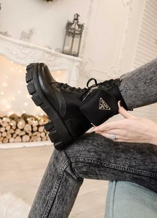 Ботинки кожаные размер 37,38,39  на шнурках
