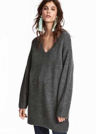 Длинный теплый свитер h&m