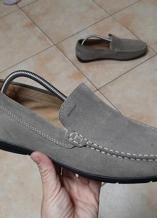 Замшевые лоферы,мокасины,туфли geox (джеокс)